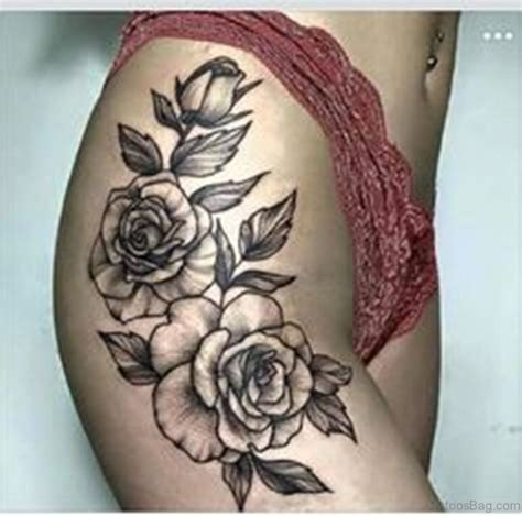 rose hip tattoo ideas 74 superb tattoos on thigh