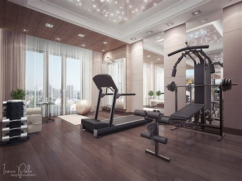 Decorating A Home Gym by Super Luxurious Apartment In Kiev Ukraine