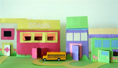 How To Make A Paper City - make a city from recycled materials bunch