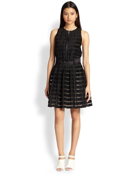 lyst 3 1 phillip lim fortuny pleated dress in black