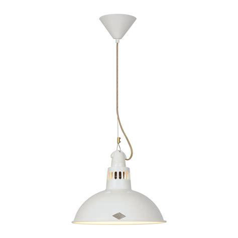 industrial white coloured ceiling pendant great for