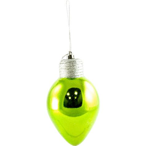 5 quot christmas light bulb ornament lime green 81756asst