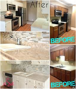 before and after 300 kitchen transformation backsplash