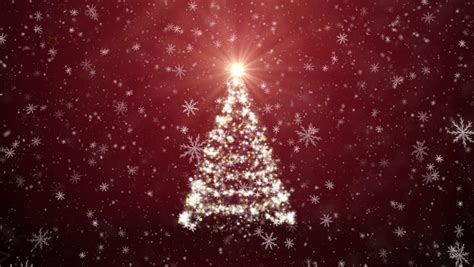 Christmas Tree With Falling Snowflakes And Stars Stock Footage Video 3175708 Shutterstock Falling Snow After Effects Template