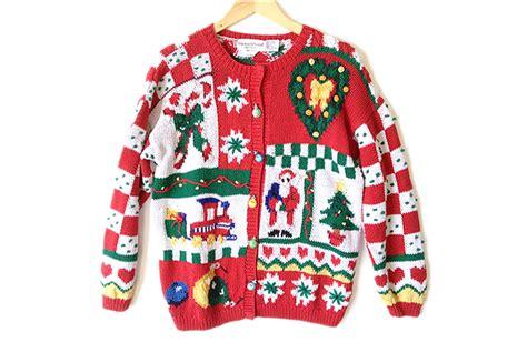 knitting pattern ugly christmas sweater vintage 90s chunky hand knit tacky ugly christmas sweater