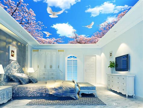 3d Wall Murals Wallpaper For Walls 3 D Ceiling Murals