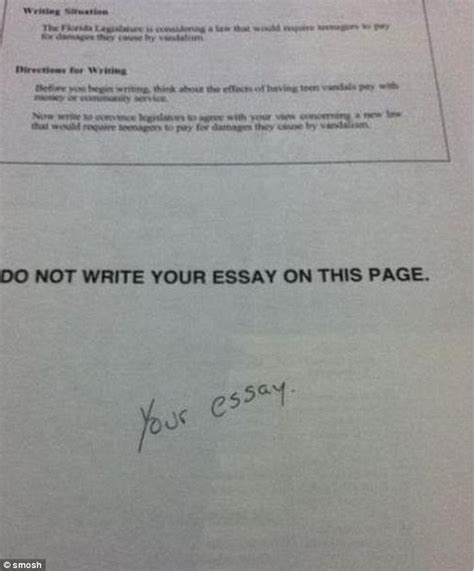 From Idea To Essay Answers by Best Test Answers Written When They Had No Idea