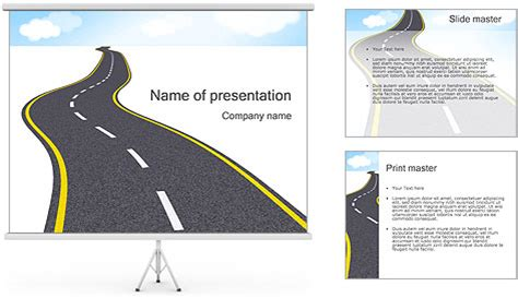 long road powerpoint template backgrounds id 0000001392
