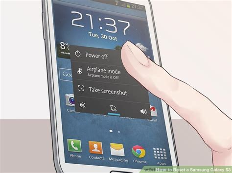 reset in samsung galaxy s how to reset a samsung galaxy s3 14 steps with pictures