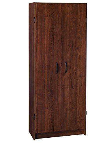 closetmaid 24 inch wide laminate pantry cabinet closetmaid 1308 pantry cabinet dark cherry closetmaid