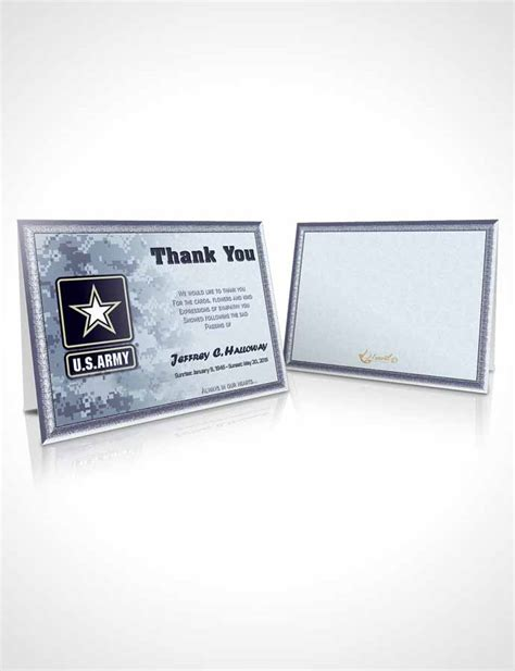 nd card templates thank you card template 2nd army soldier sunset