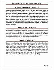 school supplies business plan