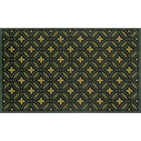 Home Depot Rubber Mat by Apache Mills Bay Leaf 22 In X 36 In Recycled Rubber Mat