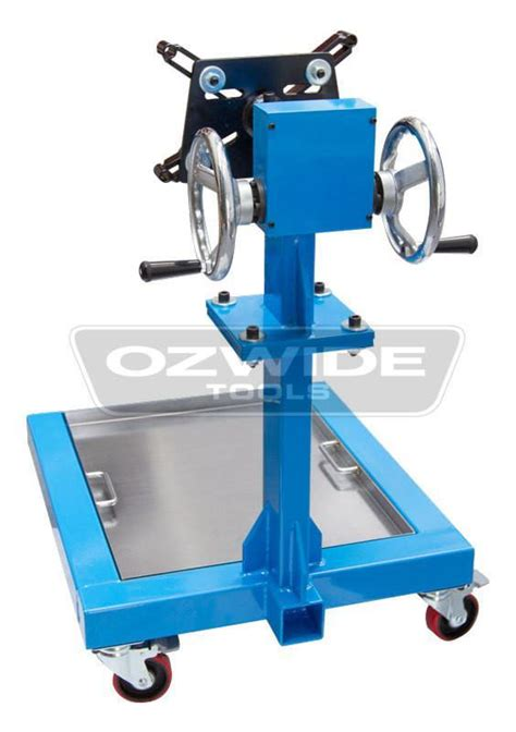 heavy duty geared engine stand