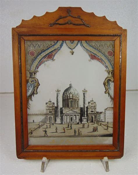 cornice vetro su vetro dipinto su vetro con cornice d epoca raffigurante la