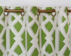 Modern lime green curtains geometric drapes by thefabricaffair
