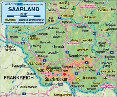 map of saarbrucken germany mapa de alemania ciudades