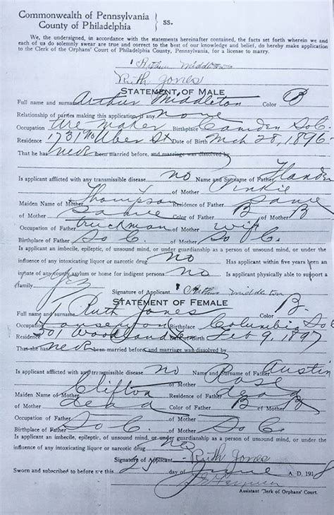Marriage License Pennsylvania Records Slavery S Traces In Search Of S Sack Southern Spaces