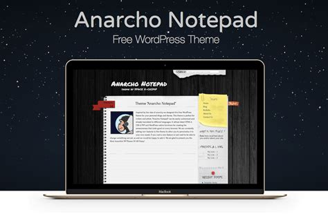 notepad themes html wp theme anarcho notepad my cyber universe