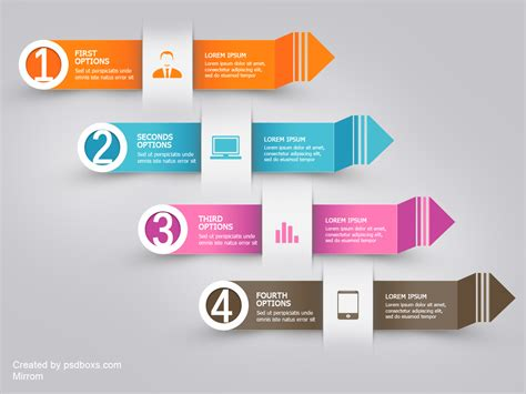 Free Psd Infographic Modern Arrow By Muhiza On Deviantart Infographic Template Psd