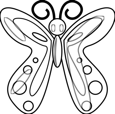 line drawings of butterflies clipart best