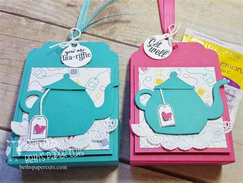 How To Make Paper With Tea Bags - tea bag holder paper craft holds 5 teabags tea