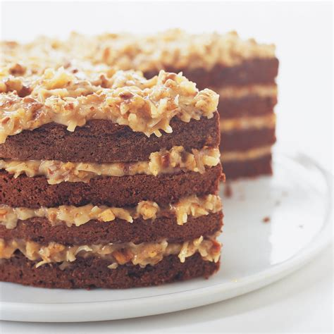german chocolate cake with coconut pecan filling america