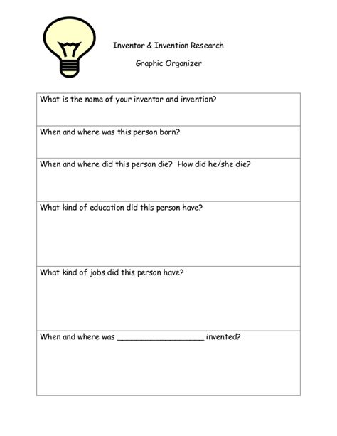 inventor biography graphic organizer 23 images of inventor research template canbum net