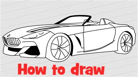 how to draw a car bmw i8 step by step easy how to draw a bmw z4 www pixshark images galleries