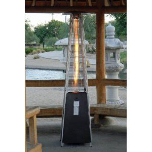 golden quartz glass pyramid style propane patio