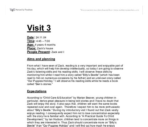 sle study report child development child development visit 3 gcse health and social care