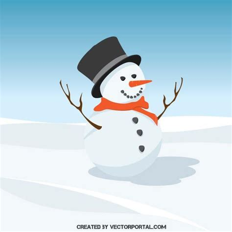 neve clipart snowman vector clip at vectorportal