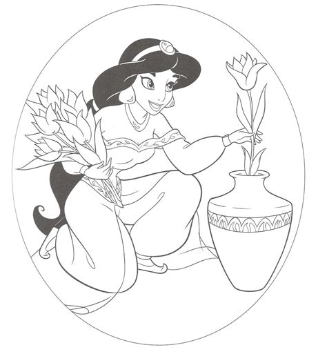 free coloring pages disney princess jasmine disney princess coloring pages for kids