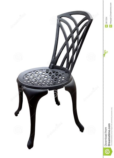 black iron patio chair stock images image 3817234