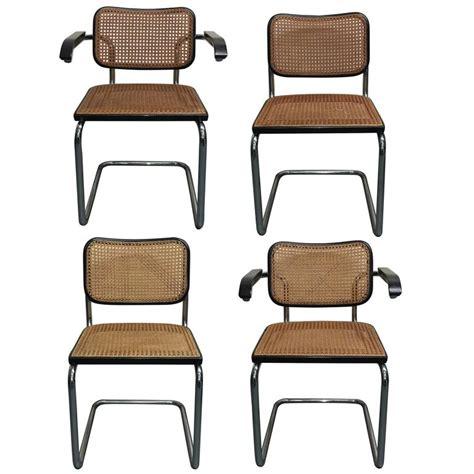 Marcel Breuer Cesca Chair by Four Marcel Breuer Cesca Dining Chair For Knoll At 1stdibs