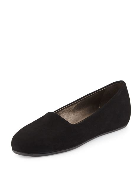 Flat Blok Suede lyst aquatalia eleanor stretch suede flat in black