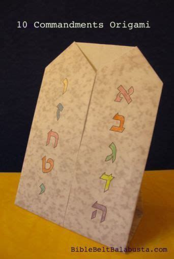 shavuot origami  kids ten commandments printable bible lessons  genesis