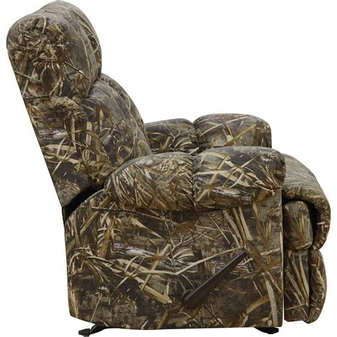 camo recliner chair rocker recliner chair rustic camouflage man cave cabin