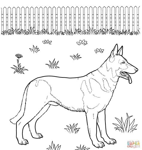 German Shepherd   Free Coloring Pages on Art Coloring Pages