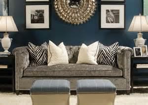 navy sofa living room navy living room with gray sofa decor home pinterest