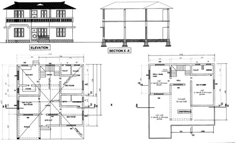 home design cad kerala house plans autocad drawings escortsea