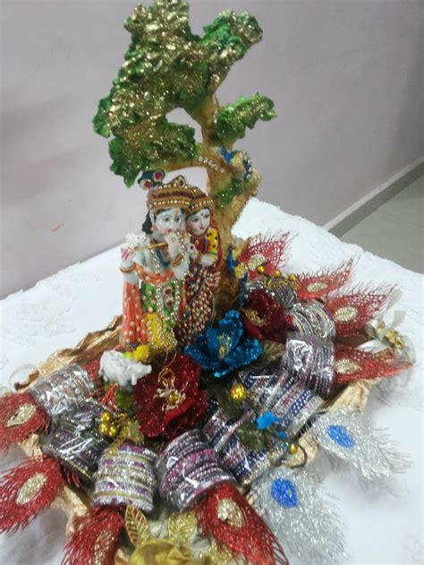 Rose n Wrap: Bangle Packing done on Radha Krishna Theme