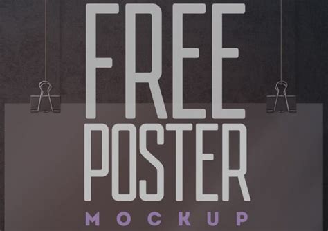 psd hanging poster mockup vol 1 60 free realistic poster frame mock ups for graphic