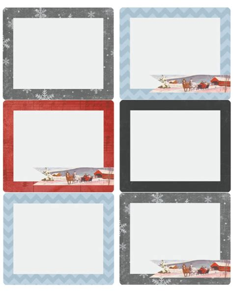 merry christmas holiday labels  catherine auger  printable labels templates label