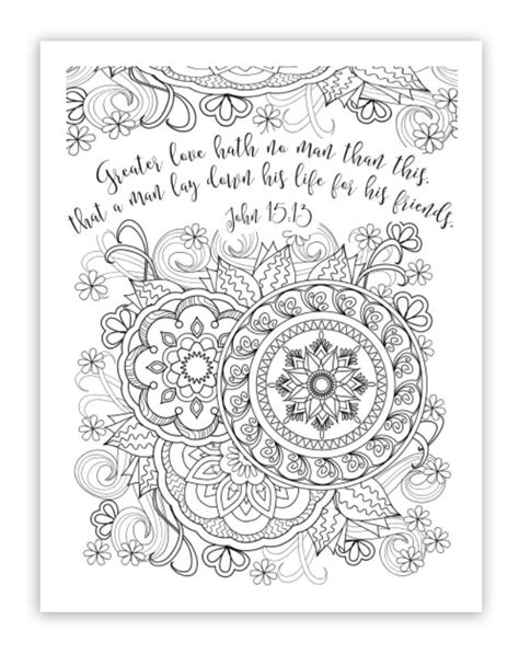 Various FREE Printable Christian, Religious Adult Coloring