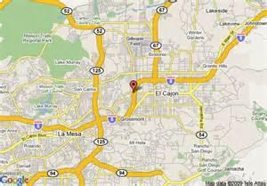 map of thriftlodge el cajon