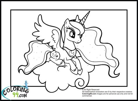 Baby Luna Coloring Page | free coloring pages of baby princess celestia