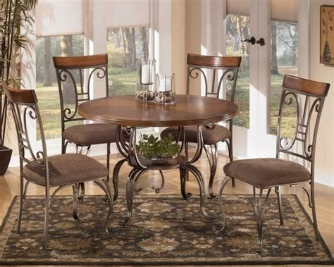 Ashley Dining Room Table antique style dining room with 5 pieces round metal