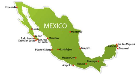 map of mexico vacation spots mexico tourism may 2008