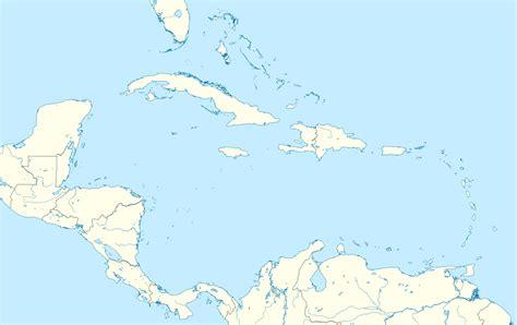 imagenes satelitales mar caribe file caribbean location map svg wikimedia commons